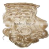 Wholesale hair chinese supplier best sell clip in curly hair extension brazilian virgin hair