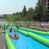 Customize Giant Inflatable Street Water Slide With Arch PVC Tarpaulin Material CE Certificate