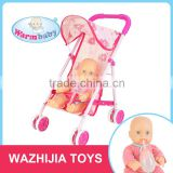 wholesale alibaba 12inch full body silicone baby doll with stroller