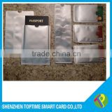 Silver cheap Aluminum foil RFID blocking card sleeve with in stock                                                                         Quality Choice