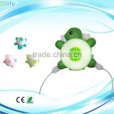 USB rechargeable LED Emergency Lamp cute mini Turtle LED baby Night Light