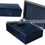 high glossy lacquering black wooden box factory