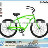 "single speed 26"" green beach cruiser bike/26 beach cruiser bicycle frames/wholesale cruiser bikes for sale (PW-B26367)"