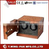 Solid wood watch winder case, material velvet, automatic watch winding machine, handmade, 2 watch winder for sale