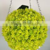 2016 new product yellow artificial boxwood ball with led light topiary grass plant for garden ornaments