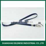 lanyard in polyester material with metal buckle