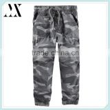 Boys 100% peached twill military toldder jogger pants kid camo printed elastic waist jogger pants cinched cuffs