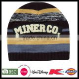 Knitted striped beautiful personalized winter hat
