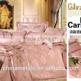 Professional Factory Sale! 4pcs lace printed raw silk duvet bedding set