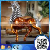 Chinese style indoor decoration resin horse statues,resin electroplating horse sculpture