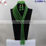 CJ1254 Different flowers design style of the fashion beads flower pattern jewelry sets on sale