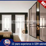 Wholesale assembled bedroom closet wooden wardrobe cabinets designs