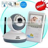 2.4 ghz 2.4 inch screen wireless long distance night vision two-way speak digital baby monitor