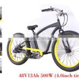 New design 24 high speed snow beach ebike/bike/bicycle fat tires bicycle mountain bicycle made in China ,OEM(HP-Beach Bike)