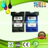 Compatible ink cartridges wholesale for hp21 22 56 67 901 300 301 remanufactured printer cartridge