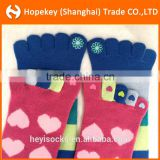 Five 5 Toes non-toxic pvc antislip Socks women, colorful striped and lovely pattern and cute cartoon women socks
