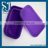 Trade Assurance Hot selling silicone collapsible food storage container lunch box with low price