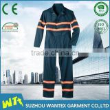 factory mechanic overalls uniform workwear reflective stripe coveralls design