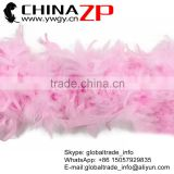 Leading Supplier CHINAZP Wholesale Beautiful 60 Gram Weight in Stock Fluffy Colored Light Pink Turkey Chandelle Feathers Boas