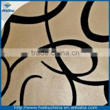 wholesale cheap african pu flocked upholstery fabric