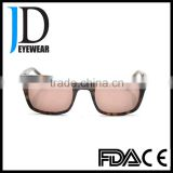 discount eyewear brown tortoise slim square sunglasses with brand lenses