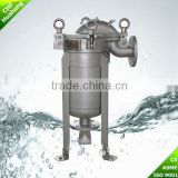 stainless steel water treatment equipment top-in bag filter system housing water purifying system