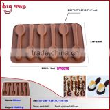 BT0079 New 9 Holes Silicone Chocolate Molds with Spoon Shape Silicone Chocolate Mold Mini Chocolate Mold