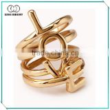 New fashion armor double midi ring with Letters LOVE