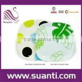 2015 Best selling kitchen accessories home tableware dot print melamine square plate wholesale