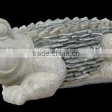 Alligator with slate statue, Animal Statue, Alligator with stone in Vietnam pottery collection