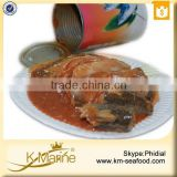 New Processing Halal Canned Mackerel Fish in Tomato Sauce