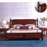 Real rubber solid wood Double bed in Leisure design for Apatment interior fitout furniture