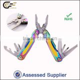 Anodized titanium handle high quality stainless steel combination plier /hand tool on sale