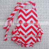 In stock chevron bubble rompers for baby