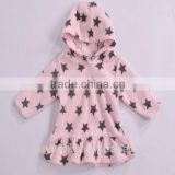 kids stock cloth polar fleece cloth happy baby clothing stock apparel hoody soft touch girls coat kids ready made garment