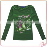 High Quality Wholesale Fashion Casual Long Sleeve T Shirts Wear For Women Custom Printing