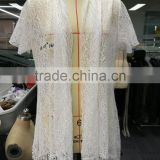 Most fashion latest net designs white female polyester blouse for sale