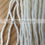 wholesale silk fiber shawl hand knitting silk/wool 50%wool 50 silk raw white single hand knitting yarn soft handling