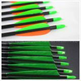 green vane carbon arrow shaft, shooting arrow, archery arrow, hunting arrow, spine 500 arrow