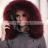 Genuine quality raccoon fur hood for coats / raccoon fur trim for hood
