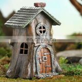 New Design Garden Decoration Resin Stump House