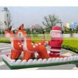 inflatable santa(with deer), christmas inflatables