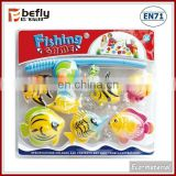 Game set plastic small fish toy