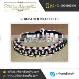 Top Quality High Material use Rope Rhinestone Bracelet for Sale
