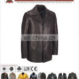 Men Leather Coat, Fashion long leather coat for men keep warm winter coat wholesale 2017