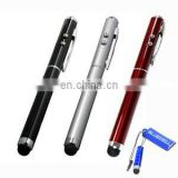 4 in 1 Capacitive Stylus Styli and Ball Point Pen with Red Laser Presentation Pointer and LED Torch Light for Apple iPad, iPhone