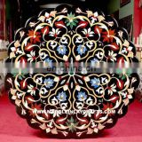 Round Marble Inlay Table Top Pietra Dura Inlay Marble Table Top