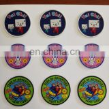 discount custom embroidery woven patches/badges