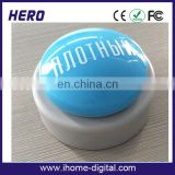 OEM logo printing heater push button switch sound press button box for promotion products