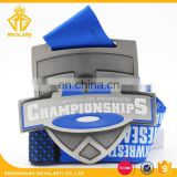 Promotional Preseason Championships Sport Medal with Sublimated Ribbon